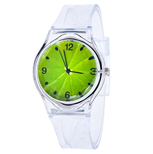 Sannysis Jalea de gel de silicona de cuarzo analógico Deportes Mujeres reloj de pulsera (02)