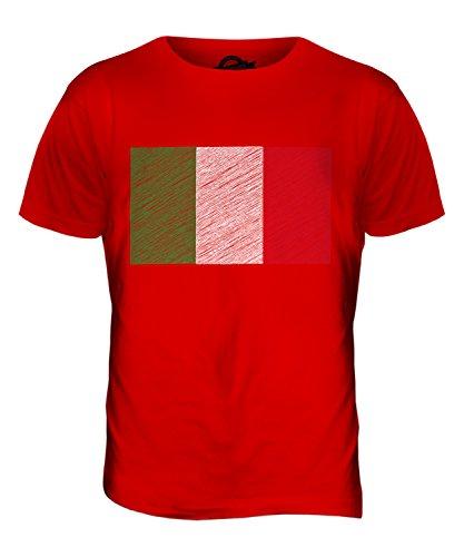 CandyMix Italien Kritzelte Flagge Herren T Shirt Rot