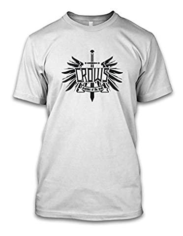 net-shirts CROWS - WATCHER OF THE WALL T-Shirt, Größe L, Weiß