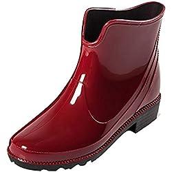 FRAUIT Botas Cortas de Agua para Mujer Botas de Lluvia Impermeables Botines Chelsea Zapatos de deslizamiento Al Aire Libre Botas para Mujer Zapatos para Mujer Botas Zapatos de deportes de Agua