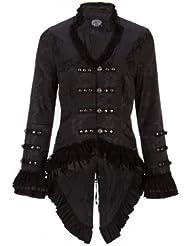 Pretty Attitude - Chaqueta de estilo victoriano, color negro