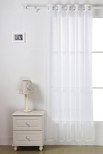 Deconovo tende voile tendaggio con occhielli 140x180 cm bianco un pannello