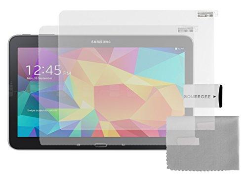 Cadorabo Bildschirmschutzfolien für Samsung Galaxy TAB 4 10.1 Zoll - Schutzfolien in MATT CLEAR - 2 Stück antireflektierende, matte Anti-Reflex-Schutzfolien