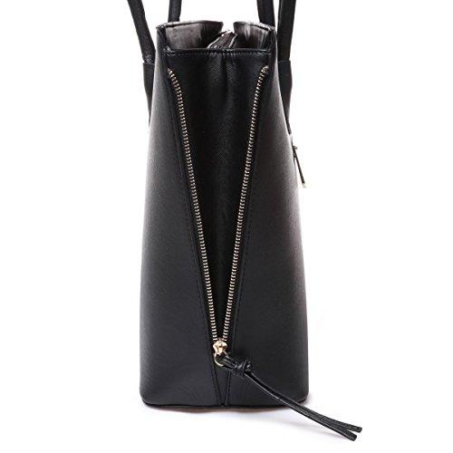 La Modeuse - Saccabas aspect cuir femme Noir