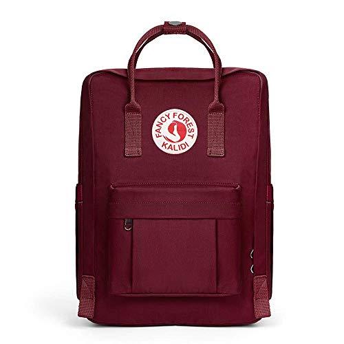 KALIDI Rucksack/Daypack Rucksack Mädchen Jungen & Kinder Damen Herren Schulrucksack mit laptopfach für 15 Zoll Notebook (Weinrot)