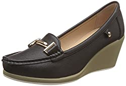 CL By Carlton London Womens Rayna Black Loafers and Moccasins - 5 UK/India (38 EU)