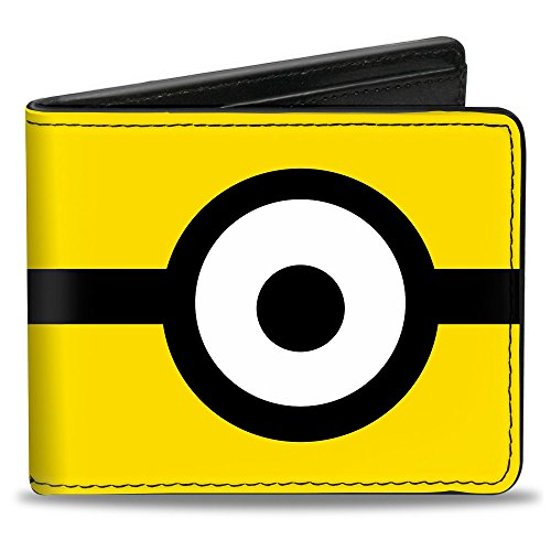 Buckle Down Unisex Minion Eye Yellow/Black/White Bi-Fold Wallet