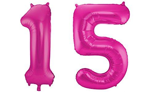 Folat 801010 - Folienballon - Zahl 15 - -