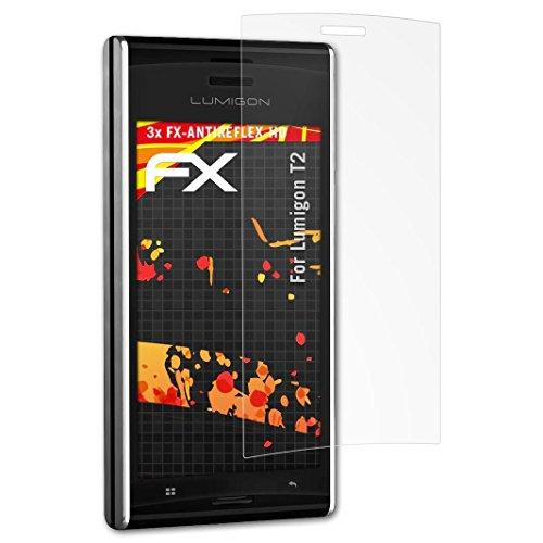 atFolix Schutzfolie kompatibel mit Lumigon T2 Bildschirmschutzfolie, HD-Entspiegelung FX Folie (3X)