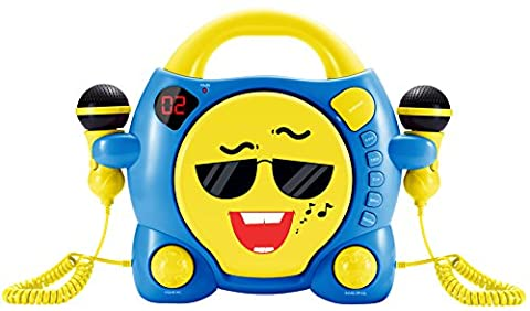 BigBen Interactive My Milo portable CD Player Blue, Yellow – CD Players (LED, Digital, 3.5 mm, lr014, 332 mm, 262 mm)