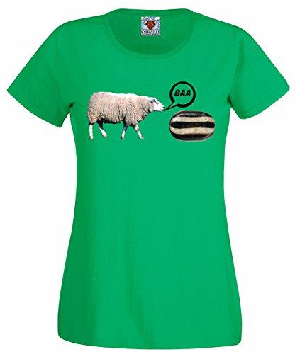 Baa Humbug T-Shirt (Irisches Grün, X-Large) (Humbug Kostüme)