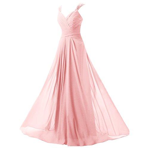 Find Dress Robe de Bal Longue Princesse Robe de Cérémonie Femme pour Mariage Style Elégant Anniversaire Gala Gown Taille Personnaliser en Mousseline Rose