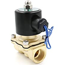 Heschen Válvula de solenoide eléctrica de latón 3/4 pulgadas AC 220V Acción directa Válvula