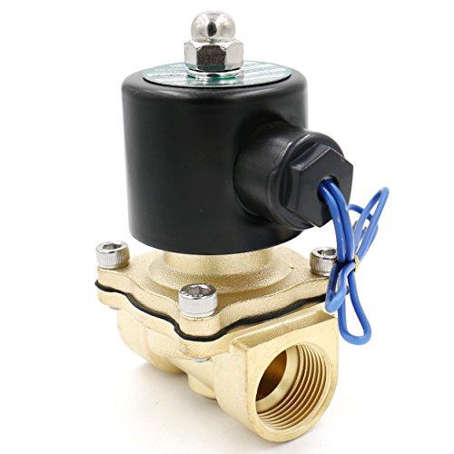 heschen Messing Elektrisches Magnetventil 3/4 Zoll AC 220 V Direct Action Wasser Air Gas Normalerweise geschlossen Ersatz-Ventil -