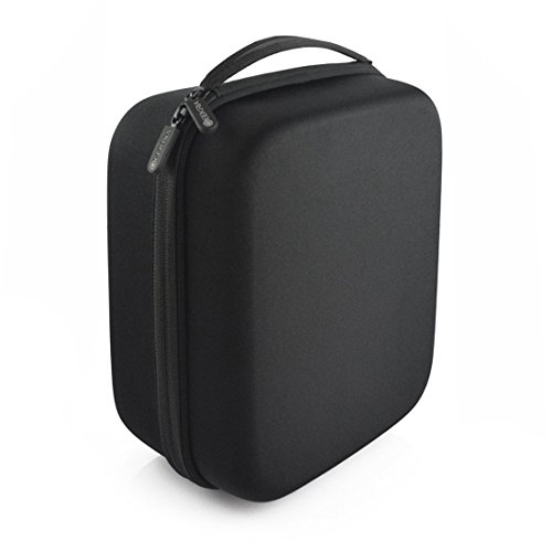 Full Size Hard Shell Large Headphone Carrying Case for Over-Ear, DJ, Gaming Headphones / Headset Travel Bag with Removable Foam and Space for Accessories