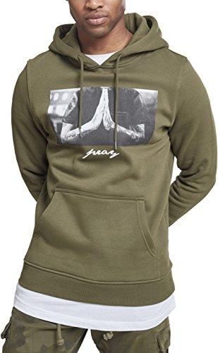 Mister Tee Herren Pray Hoody Kapuzenpullover, Olive, S Hoody Herren Casual-sweatshirts