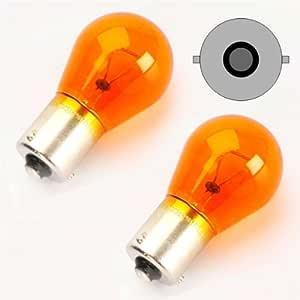 TecPo 10x Blinker Birne PY21W 12V 21W Kugellampe BAU15S Blinkerbirnen Autolampe