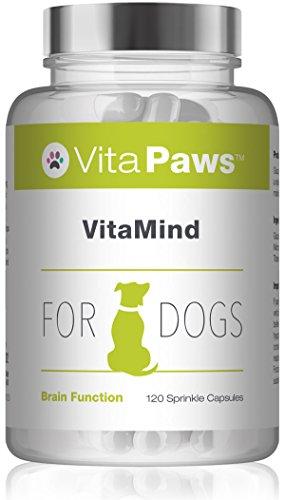 VitaPawsTM VitaMind für Hunde - 120 Streukapseln - unterstützt den allgemeinen Nahrungsplan während eines aktiven Trainingsplans