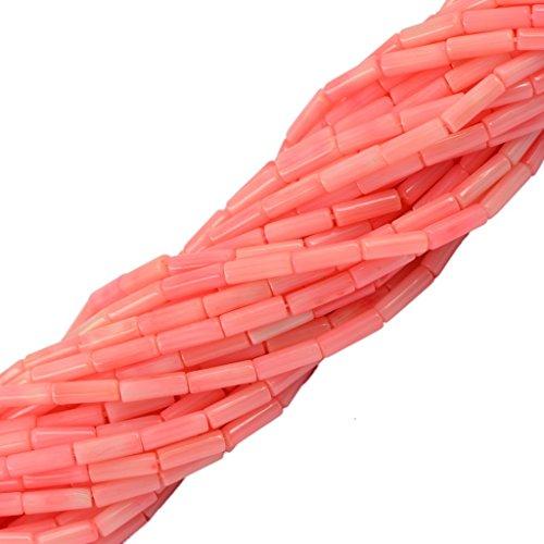 Rosa Säulenrohr Korallen Spacer Edelstein Lose Perlen Schmuck DIY 16 Machen