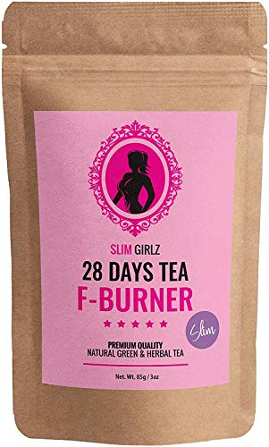 Slim Girlz 28 Days Fat Burner Tea | Hoja suelta 85g