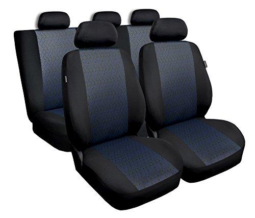Saferide | Universal Blau Komplettset PKW Sitzbezug für Auto Autositzbezüge Sitzschoner Set Schonbezüge Autositz Autositzbezüge Sitzauflagen Sitzschutz Profi