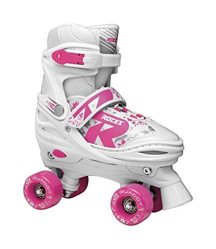 Roces Mädchen Quaddy 2.0 Girl Kinderrollschuh verstellbar White-pink 30/33