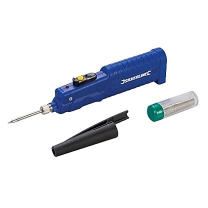 Silverline 220772 – Soldador a batería (8 W, 3 pilas AA)