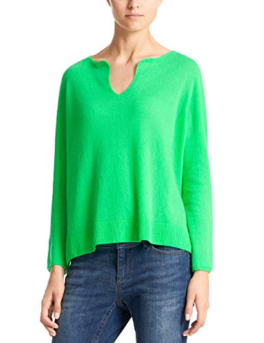 Marc Cain Collections Damen LC 41.34 M01 T-Shirt, Grün (Neon Green 543), 40 -