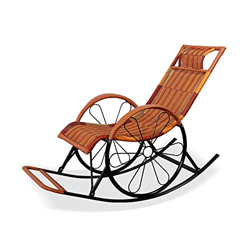 Feifei Lounge Chair, Patio Chair Schaukelstuhl Balkon Wohnzimmer Wicker Chair Outdoor Stuhl Nickerchen Stuhl (Farbe : 06)