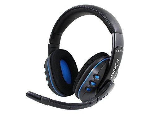 Lioncast LX16 PRO Gaming Headset für PC/PS4 schwarz/blau