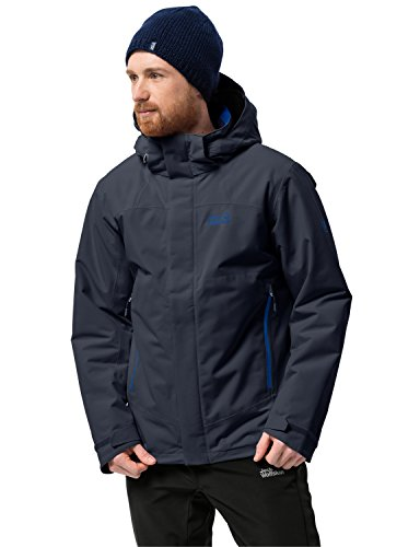 Jack Wolfskin Herren Northern Edge Wetterschutzjacke, blau(Night Blue), L (Blue Edge)