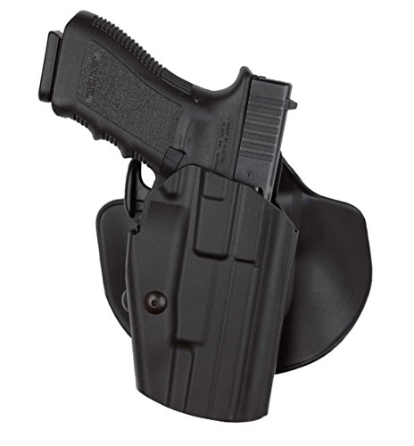 Black : Safariland 578 Pro-Fit GLS (Grip Lock System) Paddle and Belt Loop Long Holster Glock 17L, 24, 34, 35, S&W M&PL C.O.R.E. Polymer