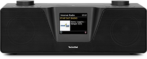 TechniSat Digitradio 510 Internetradio (Spotify, WLAN, LAN, DAB+, DAB, UKW, Bluetooth, Radiowecker, Wifi-Streamingfunktion, Multiroom, 2 x 10 Watt Lautsprecher) schwarz -