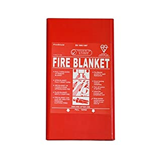 1m x 1m Hard Case Fire Blanket (Kitemarked)