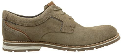 Rockport Statford Plain Toe, Derbys Homme Marron (New Marron Vicuna Sde)