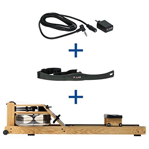 WaterRower Rudergerät Eiche, inkl. S4 Monitor, Herzfrequenzempfänger und Brustgurt POLAR T31