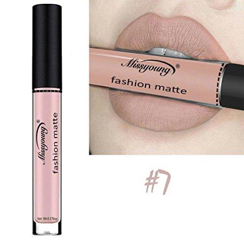 Huihong Wasserdichte flussige Make-up Lip Pencil Matte Lippenstift Lip Gloss Super Long Lasting (Göttin Farbe-G)