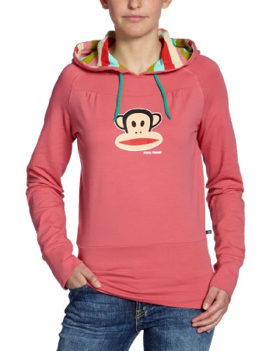 Paul Frank Damen Sweatshirt Julius Head Striped Hooded French Terry, Desert Rose, L, 06-12PAW2030 - Julius Terry