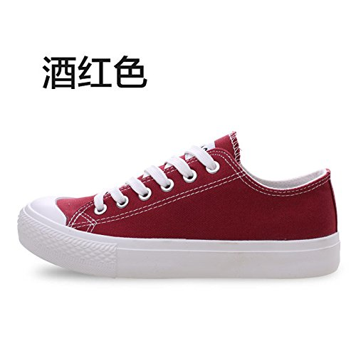 Wuyulunbi@ Bassa scarpe di tela calzature scarpe scarpe bianco Claret