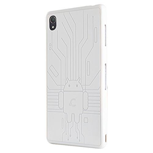 CruzerLite Z3-Circuit-White - Carcasa para Sony Xperia Z3, blanco