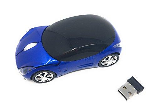 IYUTtech Drahtlose Maus Spiel Mäuse 1600DPI Auto Maus Optische Spiel Mäuse Ergonomisches Design, mit USB schnurlose Kompatibel zu PC Computer Notebook and Laptop 2.4 GHz (Blau) Computer-codierung