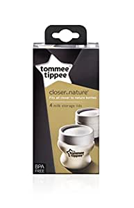 Tommee Tippee Closer to Nature Milk Storage Lids, 4 Lids