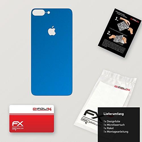 "Skin Apple iPhone 7 Plus ""FX-Wood-Root"" Designfolie Sticker FX-Chrome-Soft-Blue"
