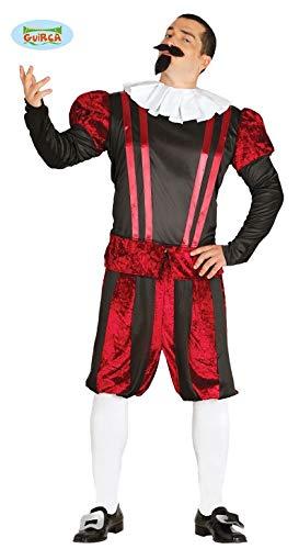 Gastwirte Kostüm - Burgherr Mittelalter Kostüm für Herren Herrenkostüme Mehrfarbig Gr. M-L, Größe:M