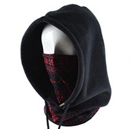 MaMaison007 Mascherati in pile con cappuccio maglia cappello moda multifunzione moda Casual-#03