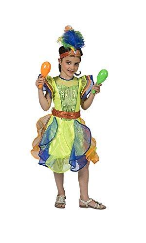 Kostüm Karneval Kinder Brasilianischer - Brasilianerin Leticia Kostüm für Mädchen Gr. 116