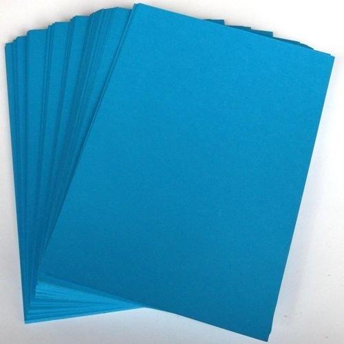 A4Ocean Blue Card Lager X 50Blatt, 240gsm (297mm x 210mm)-Stella Crafts - Ocean Blatt
