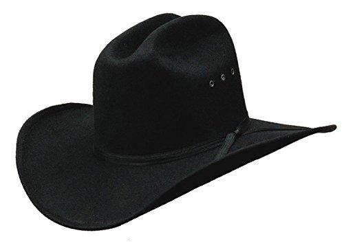 Western Express Cowboyhut aus Kunstfilz, Schwarz - Schwarz - Small/Medium (Hats Western Express)