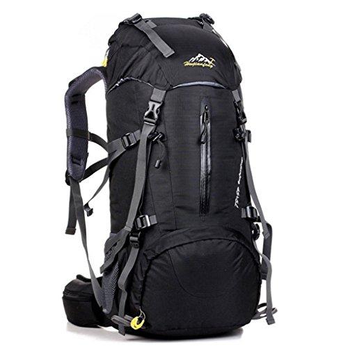 50l professionale sport all'aria aperta zaino grande capacità alpinismo zaino viaggio campeggio attrezzature per lo zaino (colore : nero)
