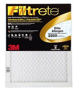 16x 25x 1(15,6x 24,6) Filtrete Elite Allergen Reduction 2200Filter von 3M (2Pack)